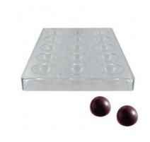 Moule à chocolat de 15 demi-sphères 39 mm, Matfer