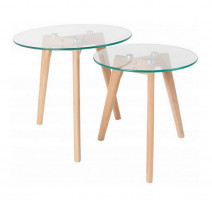 Set de 2 tables basses Scandinaves Bror, Zuiver