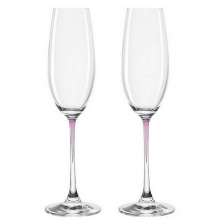Set de 2 flûtes à champagne Perla, Léonardo