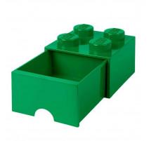 Boîte de rangement Brique 4 plots avec tiroir, Lego
