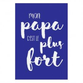 """Magnet """"Mon papa c'est le plus fort"""", Derrière la Porte"""