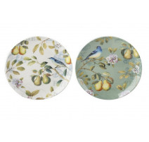 "Coffret de 2 assiettes dessert ""Spring Fruits "", The English Table"