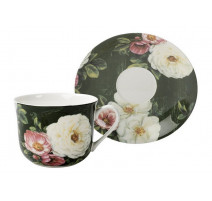 "Coffret tasse déjeuner ""Floral"", The English Table"