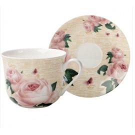 """Coffret tasse déjeuner """"Roses"""", The English Table"""