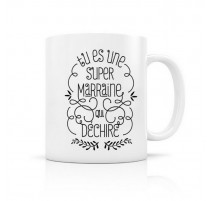 Mug Super Marraine, Créa bisontine