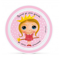 "Assiette Quand je serai grande ""Princesse"", Isabelle Kessedjian"