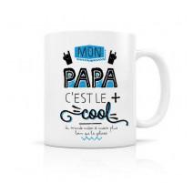 Mug Papa c'est le plus cool, Créa Bisontine