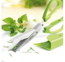 Ciseaux à herbes 5 lames vert, Mastrad