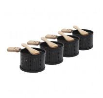 Set 4 raclettes à la bougie Lumi, Cookut