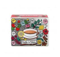 Boîte à thés parfumés compartimentée, Derrière la porte