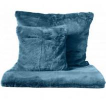 Linge de lit fausse fourrure bleu, Harmony Textile