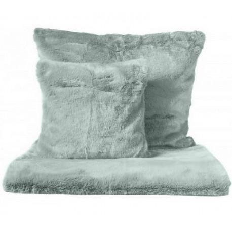 achat vente plaid fausse fourrure celadon coussin fausse fourrure linge harmony harmony. Black Bedroom Furniture Sets. Home Design Ideas