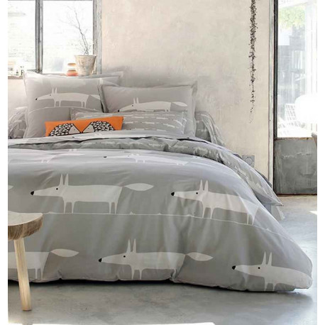 acheter housse de couette mr fox perle scion living. Black Bedroom Furniture Sets. Home Design Ideas