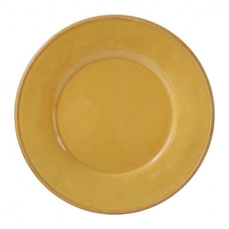 Assiette en faïence Constance moutarde, Côté Table
