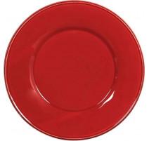 Assiette en faïence Constance rouge, Côté Table