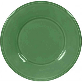 Assiette en faïence Constance vert, Côté Table