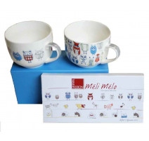 Coffret 2 tasses Jumbo 70 cl Chouette, Table Passion