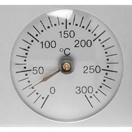 Thermomètre four alu brossé