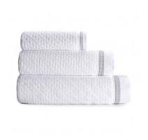 Serviette de bain Couture blanc, Le Jacquard Français