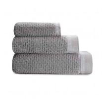 Serviette de bain Couture gris feutre, Le Jacquard Français