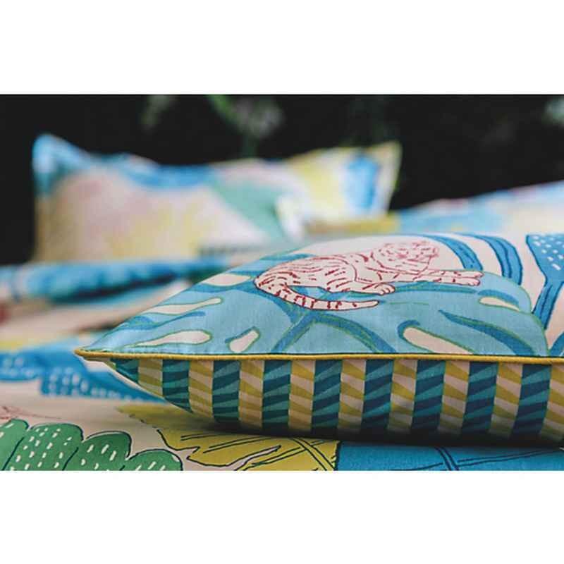 acheter taie d 39 oreiller bali bleu canard blanc des vosges. Black Bedroom Furniture Sets. Home Design Ideas