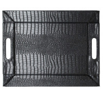 Plateau noir Freeform imitation crocodile, Feel and Co