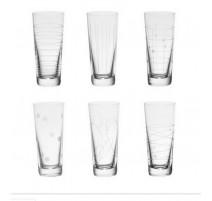Coffret 6 verres à vodka Graphik, Table Passion