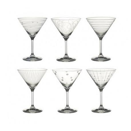 Coffret de 6 verres à cocktail Graphik, Table passion