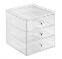 Boîte de rangement 3 tiroirs Clarity, Interdesign