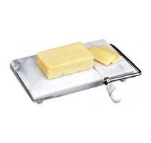 Coupe foie gras/fromage sur marbre