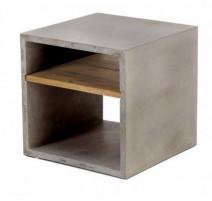 Cube béton avec 2 niches style industriel, Zago
