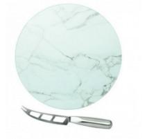 Plateau à fromage rond couleur marbre, Table Passion