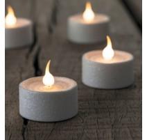 Coffret 6 bougies Lone blanche paillettée, Sirius