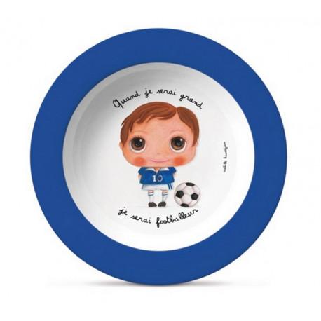 "Assiette Quand je serai grand ""Footballeur"", Isabelle Kessedjian"