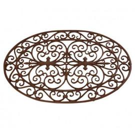 Paillasson ovale en fonte bronze, Sweet Sol