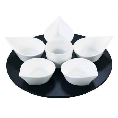 Service apéritif rotatif Goutte blanc, Table Passion