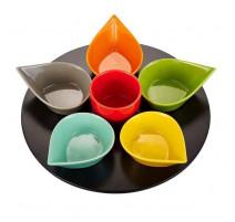 Service apéritif rotatif Goutte multicolore, Table Passion