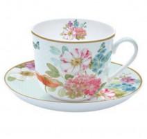 Coffret tasse déjeuner et soucoupe Cottage Flowers, Eays Life