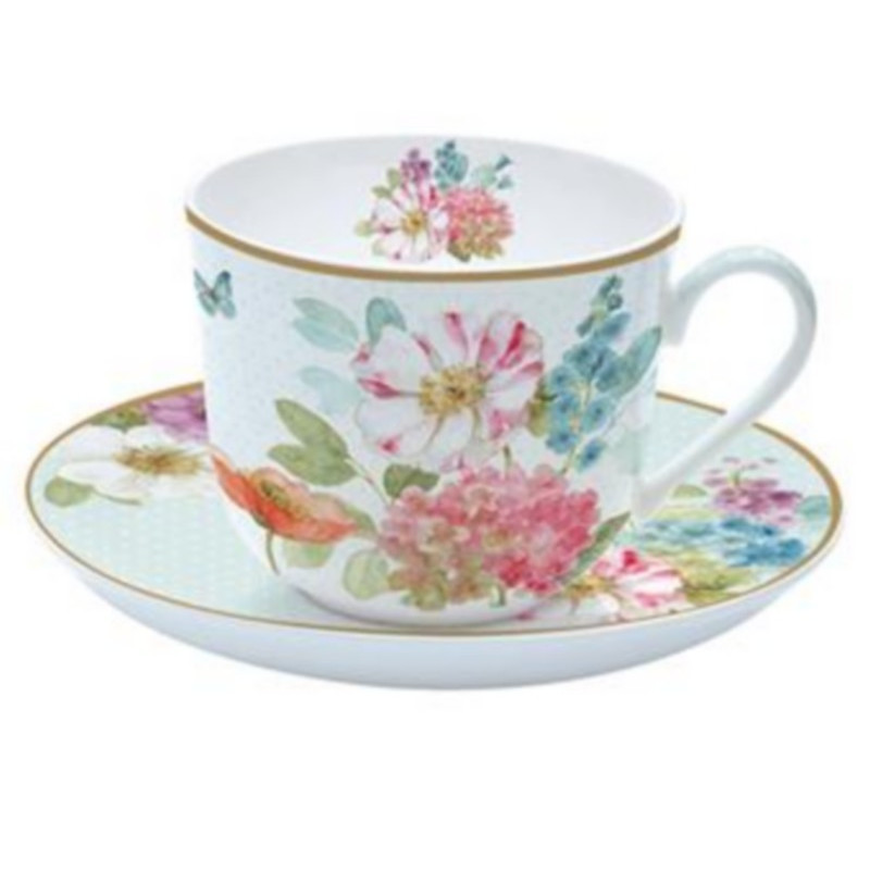 achat vente tasse d jeuner cottage flowers porcelaine tasse d jeuner vaisselle. Black Bedroom Furniture Sets. Home Design Ideas