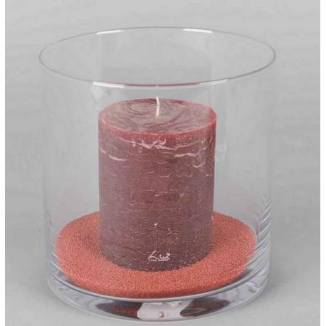 Photophore cylindrique verre, Rasteli