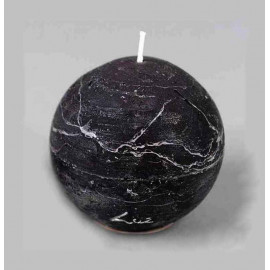 Bougie boule Rustique 8 cm, Rasteli