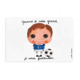 Set de table Footballeur, Isabelle Kessedjian