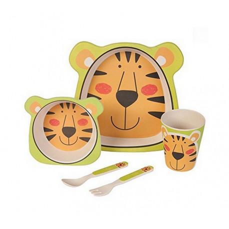 Coffret enfant Tigre en fibre de Bambou, Trend up