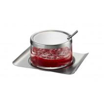 Pot à confiture verre et inox, Gefu