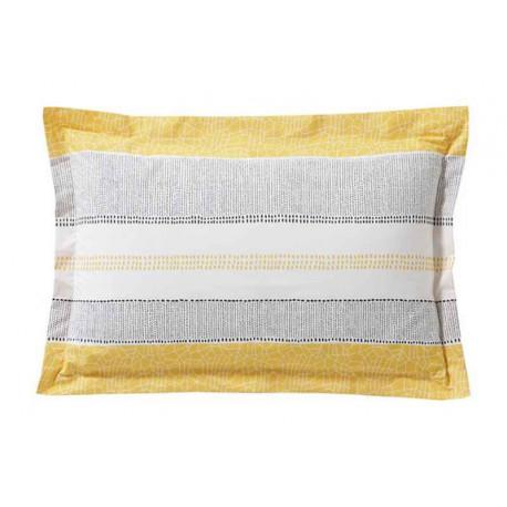 Taie d'oreiller Cadences Bouton d'or, Blanc des Vosges