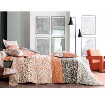 Housse de couette Variations orange, Blanc des Vosges