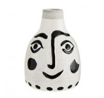 Vase visage noir petit modèle, Madame Stoltz
