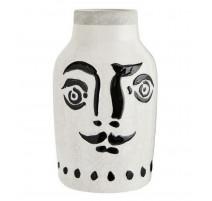 Vase visage noir grand modèle, Madame Stoltz