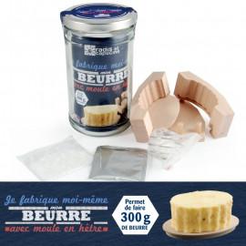 Kit de fabrication pour beurre avec moule, Radis et capucine