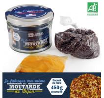 Kit de fabrication pour moutarde de Dijon, Radis et capucine